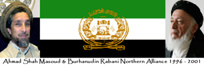 Masoud Rabani Northern Alliance Flag 400