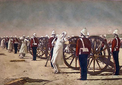 Vereshchagin Blowing from Guns in British India 400